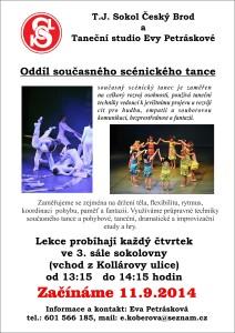 Scénický tanec - nábor sokol 2