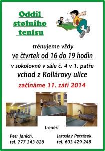 Plakát stolní tenis
